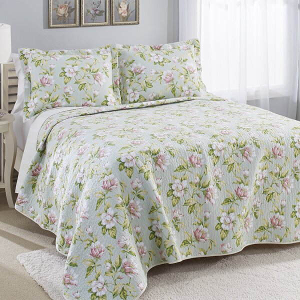 Carlise Mist 100% Cotton Reversible Quilt Set by Laura Ashley Home by Laura Ashley Home